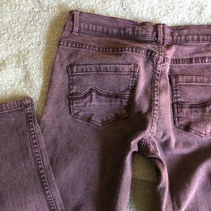 Purple denim jeans
